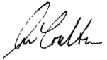 Ann Coulter Signature